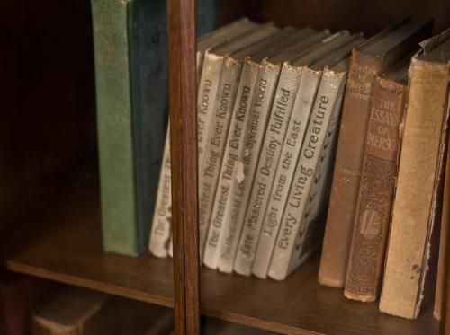 本棚の古い洋書