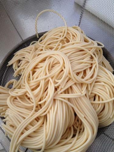 水に浸したスパゲティ2
