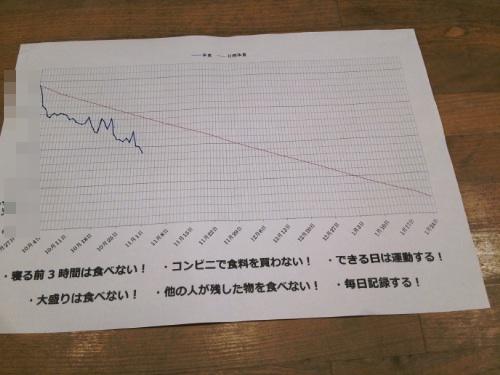 体重のグラフ
