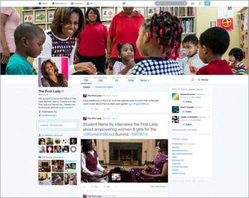 オバマ夫人Twitterページ